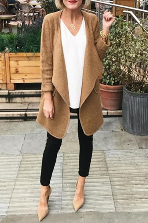 Solid Women's Woolen Cardigan
