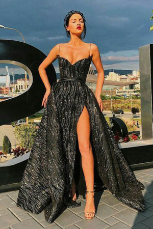 Sweetheart Slit Prom Dress