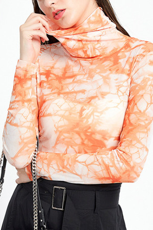 Tie Dye High Neck Top