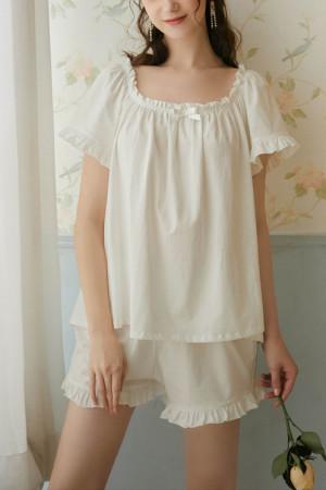 White PJ Short Set