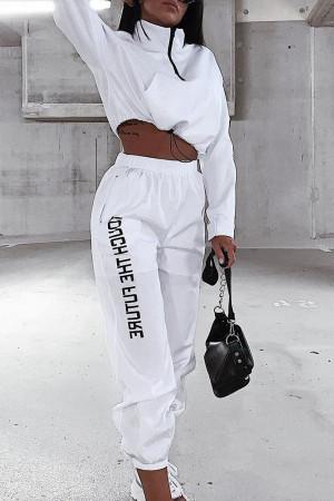 Zip Front Sweatshirt & Pants Set