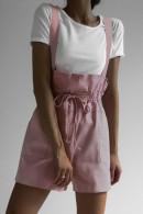 Lace-up Short Jumpsuit