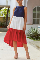 Color Block Midi Dress