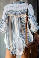 Striped   Print   Streetwear   Shirt