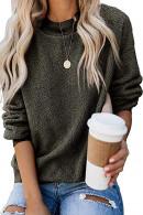 Fuzzy Fleece Crewneck Sweater
