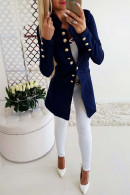 Solid Casual Button Blazer
