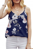 Floral V-neck Cami Top