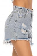 Tassel Ripped Denim Shorts