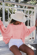 Batwing Sleeve Backless Sweatshirt