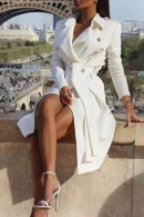 Belted Double Breasted Lapel Coat