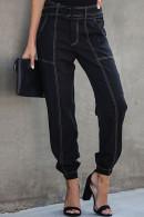 Black Belt Casual Pants