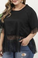 Black Lace TulleT-shirt