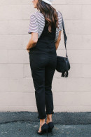 Black Ripped Denim Overall