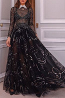 Black See Through Prom Dress