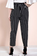 Black Striped Plus Size Pants