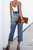 Blue Lace-up Denim Overall