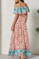 Boho Off-the-shoulder Maxi Dress