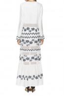 Boho Print Chiffon Long Dress