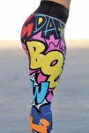 Cartoon Print Pull On Leggings