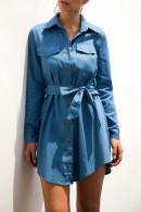 Casual Denim Shirt Dress