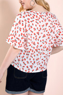 Casual Floral-Print Blouse