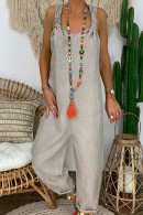 Casual Linen Cotton Jumpsuit
