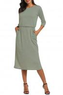 Casual Pockets Tee Dress