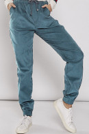 Casual Solid Corduroy Pants