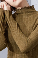 Casual Solid Knit Sweatshirt