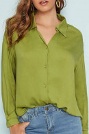 Casual Solid  V-neck Shirt