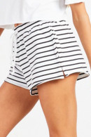 Casual Striped Lace-up Shorts