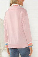 Casual Zipper-collar Sweatshirt