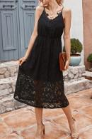 Chic Lace Sleeveless Midi Dress