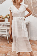 Chic Tie Front Long Dress