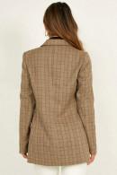 Classic Plaid Buttoned Blazer