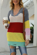 Color-block Knit Sweater
