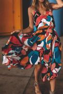 Color Block Asymmetrical Cami Dress