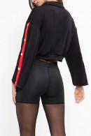 Contrast Binding Crop Jacket