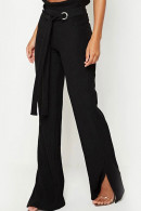 Corduroy Lace-up Flared Pants