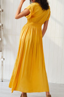 Cutout Slit Embroidered Maxi Dress