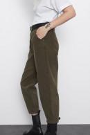 Dark Green Loose Empire Pants
