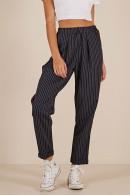 Dark Navy Striped Pants