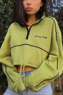 Drawstring Half Zip Sweatshirt