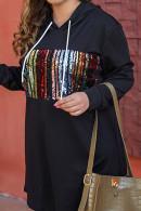 Drawstring Plus Size Hoodie Dress