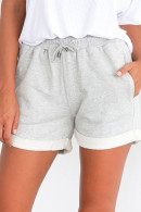 Elastic Waist Roll Up Shorts