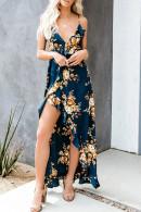 Flora Print Asymmetrical Dress