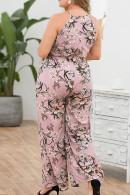 Floral-Print Belted Jumpsuit