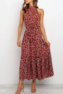 Floral Sleeveless Maxi Midi Dress