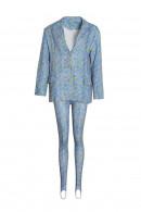 Floral V-neck Two-piece Suit