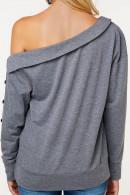 Gray Sloping Shoulder Sweatshirt